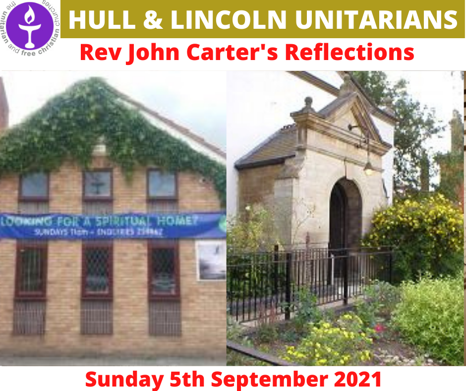 Read more about the article 05 Sept 2021 – Rev John Carter's Sunday Reflections