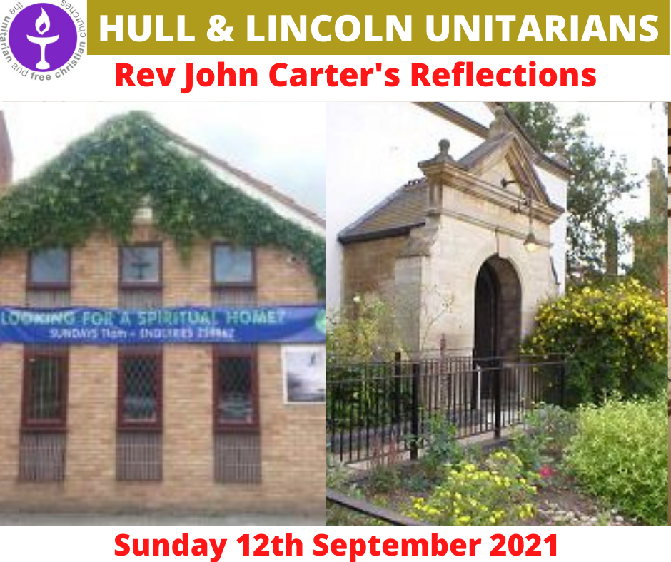 Read more about the article 12 Sept 2021 – Rev John Carter's Sunday Reflections